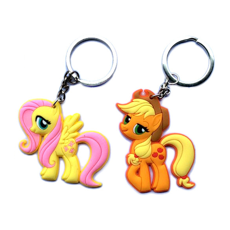 keychain my little ponys lps pet shop key chain car motorcycle key ring holder keyrings Pendant keys brand fashion kawaii 2016(China (Mainland))