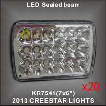 6×7 H4 led sealed beam CREE led headlamp H4651 H4656 H4652 H4666 led truck lights used for E-450 Super Duty DHL FREE SHIPPING