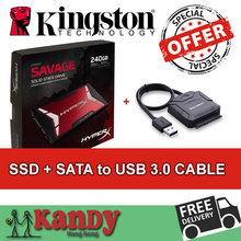 Kingston HyperX Savage SSD 256GB hdd ssd 240gb + SATA to usb 3.0 disco duro externo laptop computer portable solid state disk(China (Mainland))