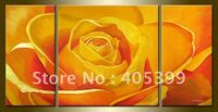 Yellow Roses Wall Picture Art for Living Room Hand Painted Modern Abstract Oil Painting On Canvas Wall Art Decoration JYJATH058