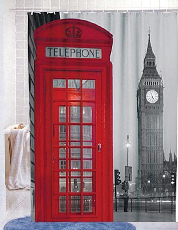 Cortinas De Baño Londres:London Shower Curtain