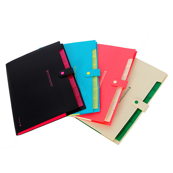 Newest Waterproof Book A4 Paper File Folder Bag Accordion Style Design Document Rectangle Office Home School Color Random<br><br>Aliexpress