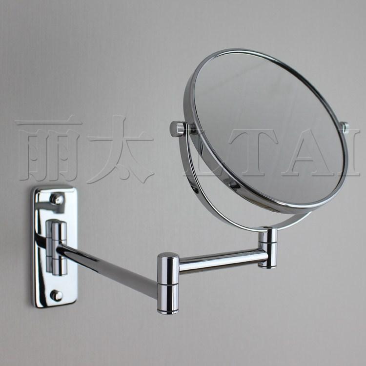 Salle de bains de cuivre de maquillage 8 5x for Miroir double face