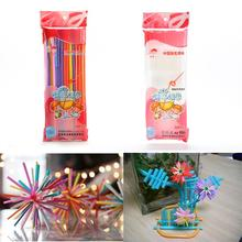Buy 50 Pcs Flexible Plastic Bendy Party Disposable Drinking Straws Kids Birthday Wedding Decoration Event Party Supplies for $1.12 in AliExpress store