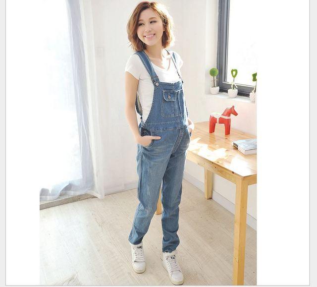 2016 весна новые комбинезоны для для беременных джинсы для беременных Большой размер ...