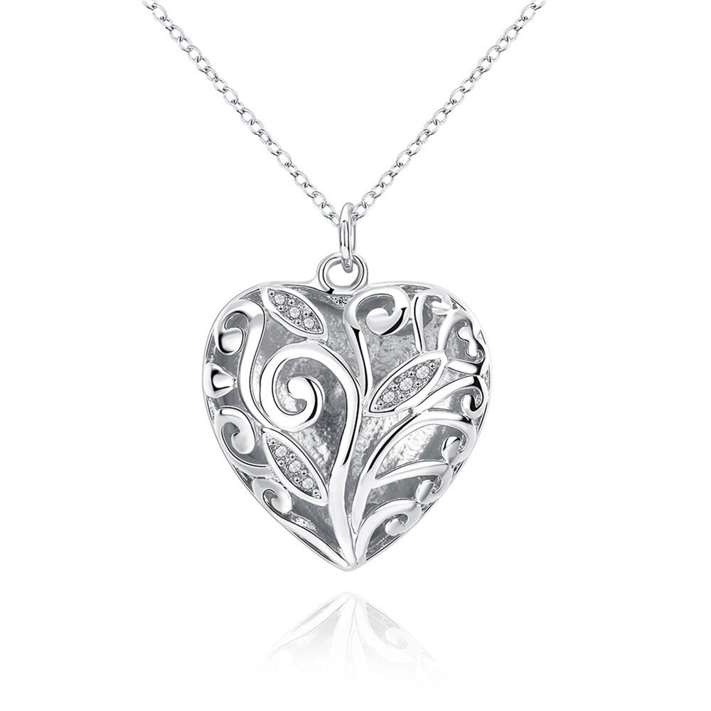 N224 New Listing Hot selling silver fine Crystal beautiful heart charms Necklace Fashion trends Jewelry Gifts(China (Mainland))