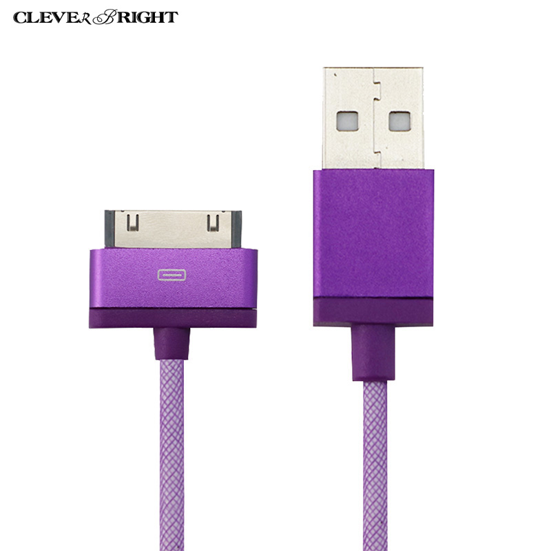 For Iphone 4 4s Cable Orginal MFI Certified 30 Pin Charging USB Cellphone Cable Data Sync Breided Nylon For 3GS iPad 2 Wire Cord(China (Mainland))