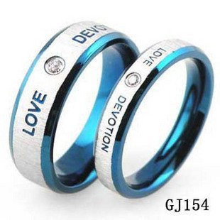 Hot New wholesale stainless steel lover couple Rings FOREVER LOVE with Magnetic health stone for men women,fashion Jewelry GJ154