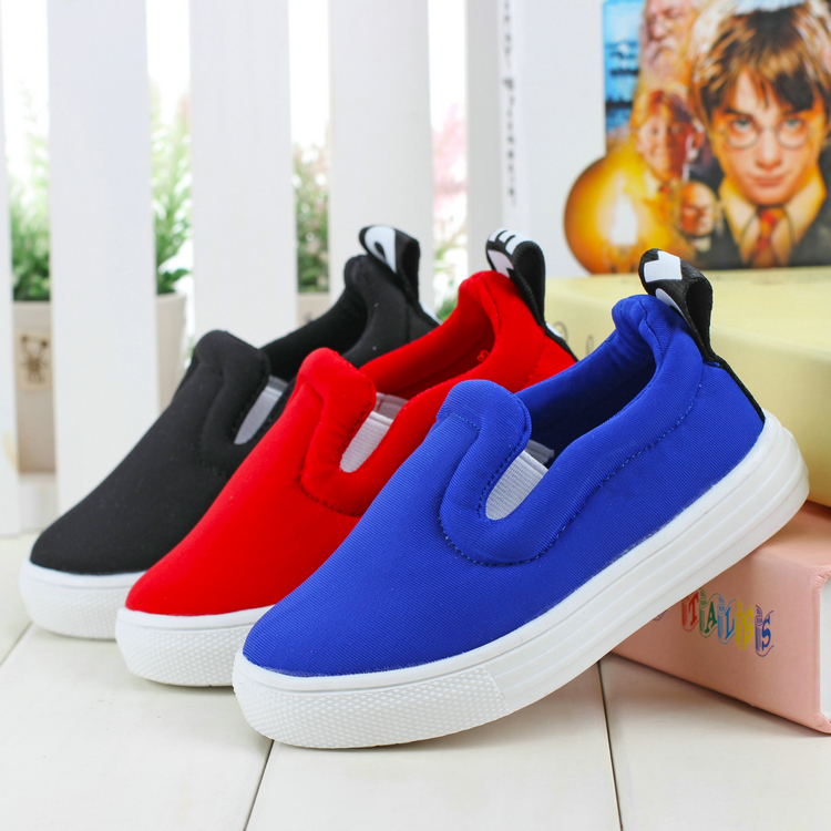 2015 new girls shoes boys Casual han edition chaussure outdoor school loafers Elastic cloth shoes Free Shipping Cotton inside E(China (Mainland))