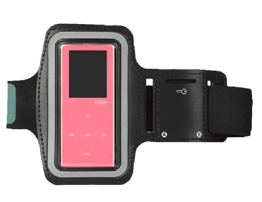 Black Running arm band Sport leather Armband Case Cover for ipod nano 4th 5th ONN RUIZU