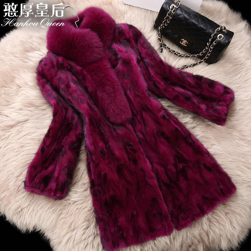 Winter New Fashion Womens Mink fur coat,Elegant Slim fight mink fur jacket coats Plus size fur garment Free shipping FQ7012Одежда и ак�е��уары<br><br><br>Aliexpress