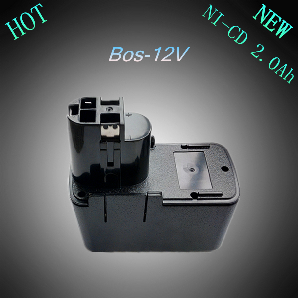 New 12V Ni-Cd 2.0Ah Replacement Rechargeable Power Tool Battery for Bosch 2 607 335 055 2607335071 2 610 910 405 BAT011 BH1214H(China (Mainland))