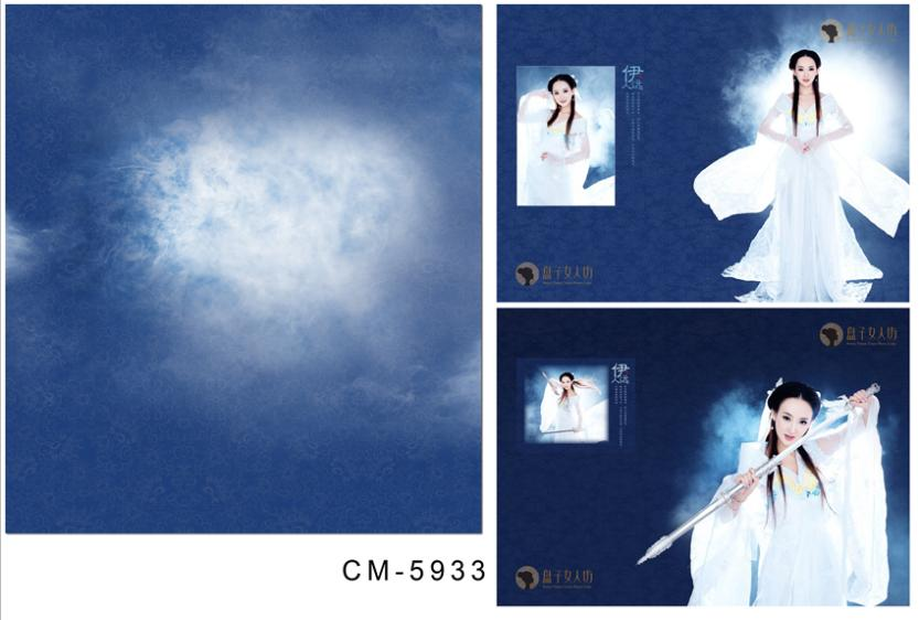 3M*6M(10FT*20FT)Chaos bright bluephotography backdrops seniorWedding backgroundcm-5933<br>