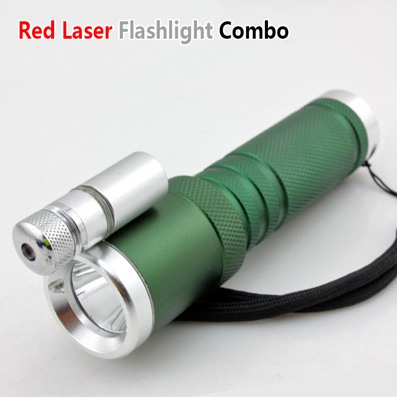 Red Laser Flashlight Cree LED Tactical Laser Flashlight Combo With Cool Astronomy Starry Effect Cap For Outdoor Camping Hunting(China (Mainland))