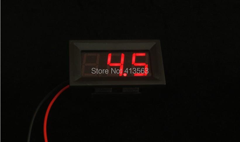 Digital Voltmeter 2.5-30v / DC 0V to 30V Digital Voltmeter Voltage Panel Meter For 6V 12V Electromobile Motorcycle Car #0005(China (Mainland))