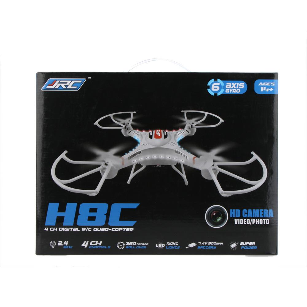 Fashion JJRC H8C 2.4G 4CH 6-Axis Gyro Remote control RC Quadcopter Aircraft Drone RTF w/HD 2.0MP Camera Black/White airplane(China (Mainland))