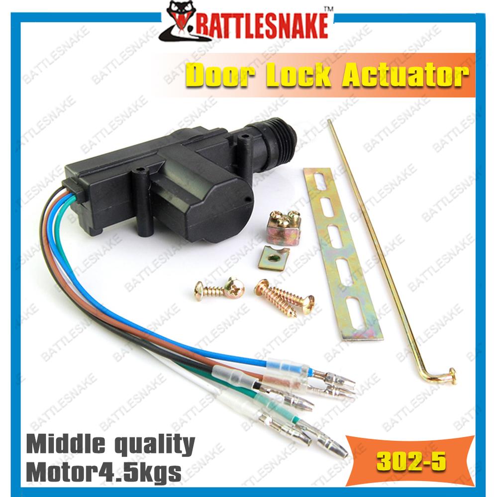 Free shipping Middle class Car Door Lock Actuators CF302-5 with 5 lines electric actuator door lock actuator motor(China (Mainland))