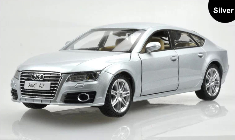 1:24 Scale Alloy Diecast Car Model For Audi A7 Sportback Collection Class Model Car Toys With Sound&Light - Silver / Red(China (Mainland))
