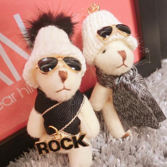 Симпатичные Hat Kawaii Плюшевый Медведь Брелок Брелок Животных Ключи от машины Кольцо Мода Женщины Сумку Кулон