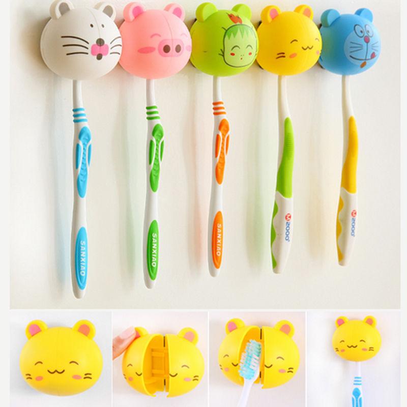 Cute Cartoon Animal Face Toothbrush Holder