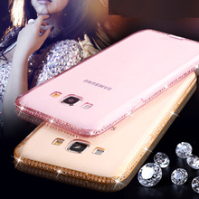 Luxury Bling Diamond Frame Transparent TPU Case Samsung Galaxy A3 A5 A7 2016 S6 S7 Edge J5 J7 Cover Soft Silicone Capa - Magiclife store