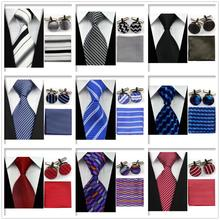 UN7 Men Classic Smooth Purple White Red Blue Ties Adult Formal Party Evening Necktie Sets Match