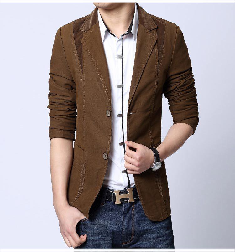 2017 2015 New Fashion Spring Fashion Men'S Blazer Men Casual Suit