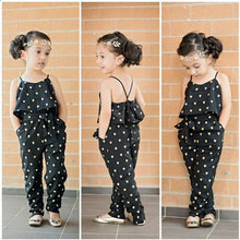 2016 New Cute Kids Girls Toddler Clothes Cool Vest Top Pants Jumpsuit Outfit Set Summer