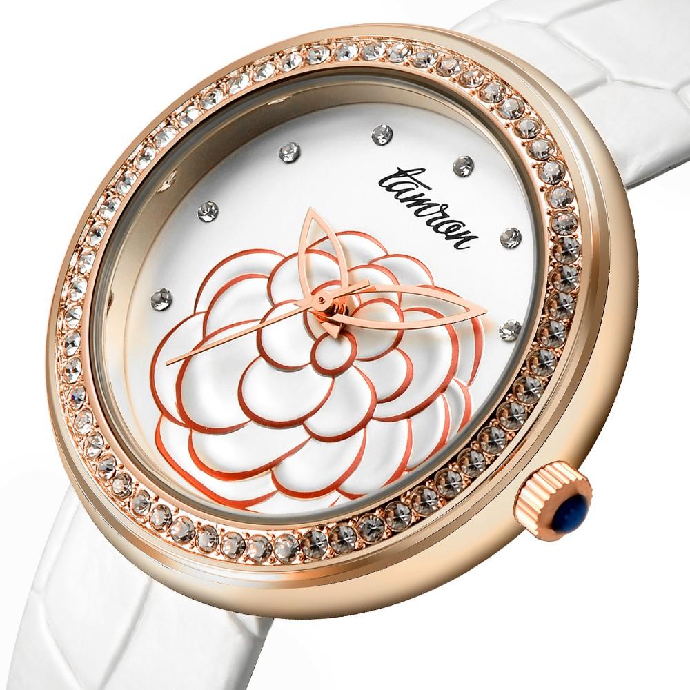 2016 новое прибытие женские часы моды алмазов набрать водонепроницаемый 30 м япония движение ремень из натуральной кожи женщины одеваются часы