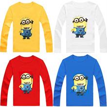 Top quality Hot Sale Cute Cartoon Baby Long sleeve T-shirt girls boys children Clothes for summer T shirt Free Shipping