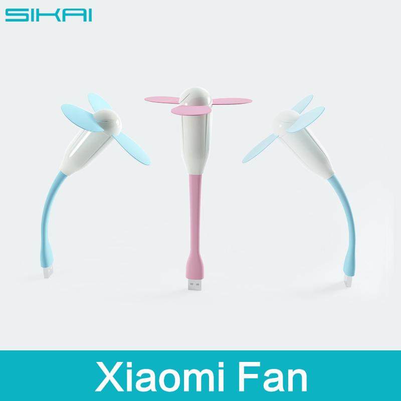 Cheapest Original Xiaomi Cooling USB Fan Flexible Mini PC Cooler Fan For Power Power Notebook Laptop Three Leaves Fan(China (Mainland))