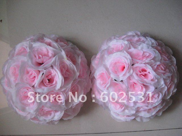 High grade rose plastic center market flowers balls decorations-15cm ,factory directly sales(China (Mainland))