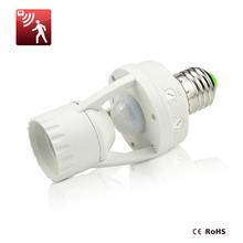 High Sensitivity PIR Motion Sensor E27 LED lamp Base Holder 110V - 220V With light Control Switch Infrared Induction Bulb Socket(China (Mainland))