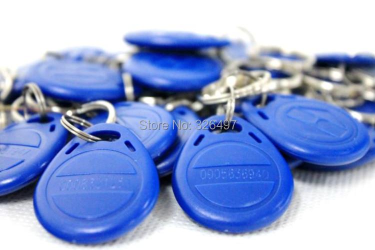 RFID Key Fobs chain 125KHz Proximity ABS Key Tags Rewritable Access Control ATMEL T5577 Hotel Door Lock for em card programmer(China (Mainland))