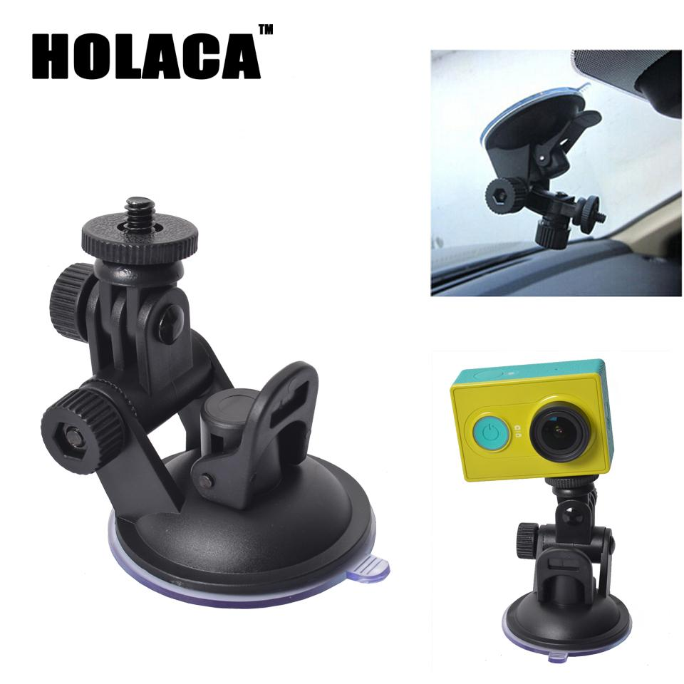 Universal Mini Car Suction Cup Mount Tripod Holder Car Mount Holder for Car GPS DV DVR Xiaomi yi Action Camera Accessories(China (Mainland))