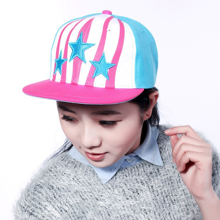 Five pointed star snapback cap snap baseball cap swag polo hip hop bone cap men sport Hats for women unisex striped 5color B399(China (Mainland))