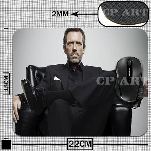 funny Dr. Gregory House Anti-Slip Laptop PC Mice Pad Mat for Optical Laser Mouse Drop Shipping(China (Mainland))