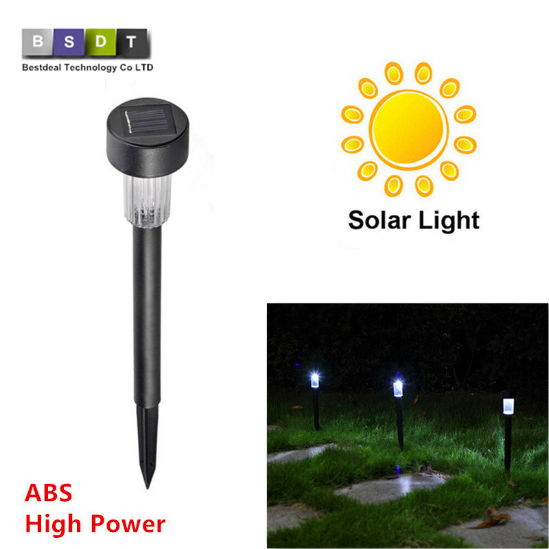 high quality waterproof solar lamps white abs spot light