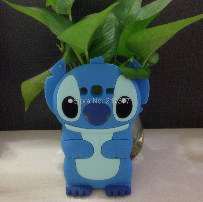 3D Cartoon bliue Stitch Silicone Cover Case Samsung Galaxy grand neo i9060 9060 - Mobile Phone and Retail Center store