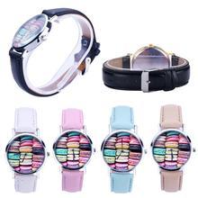 2016 Yoner Watch Fashion Creative Elegant Food Pattern Quartz Watches Women Faux Leather Analog Wristwatch Gift
