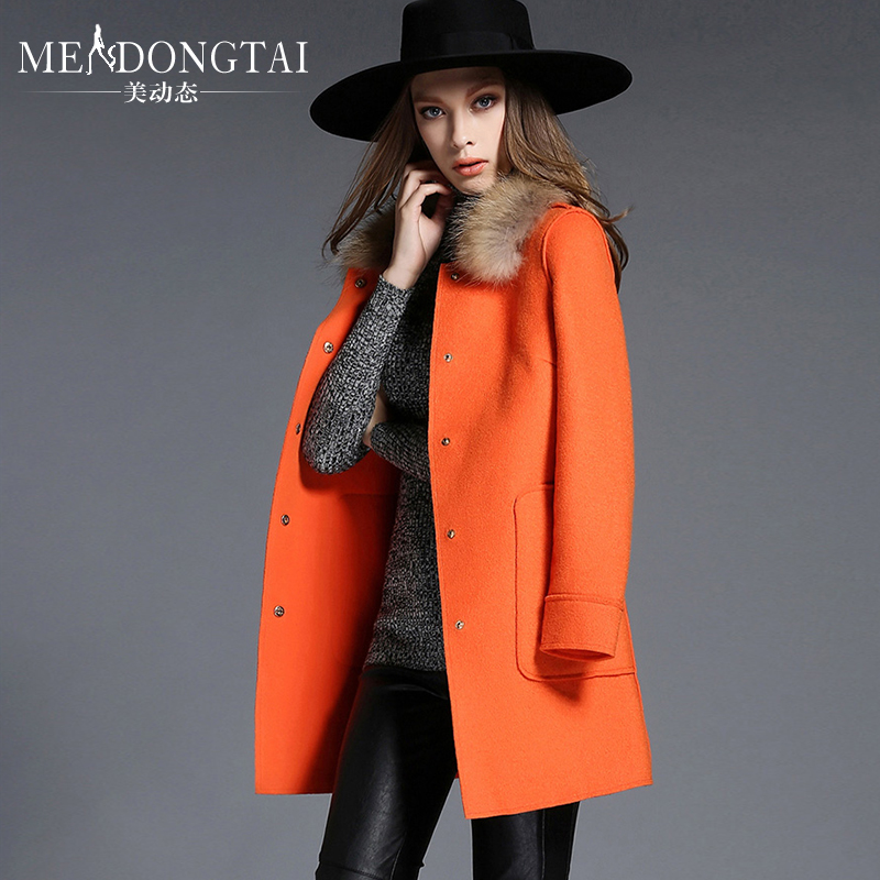 Large Size Solid Long Wide-waisted Thick Open Stitch  Woolen Women Coat Plus Size 5XL Female Clothing