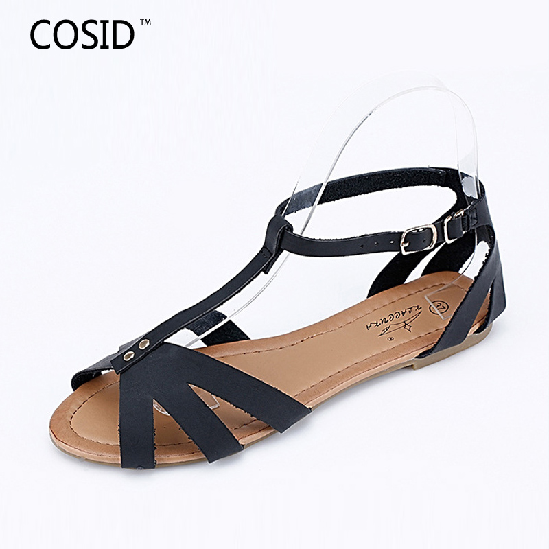 New 2016 Summer Women Sandals Fashion Brand Cut Outs Casual Women Shoes Flat Gladiator Zapatos Mujer Sandalias BSN-555