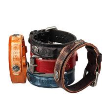 Cool men Bracelet women men jewelry pulseira masculina Genuine Leather Genunine Leather Bracelet