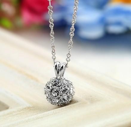 , Lucky Ball 18K Platinum plated Pendant Necklace Jewelry Austrian Crystal SWA Elements - Shenzhen Sun International Co.,Ltd store