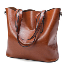 Buy Fashion Women Handbag PU Oil Wax Leather Women Bag Large Capacity Tote Bag Big Ladies Shoulder Bags Famous Brand Bolsas Feminina for $20.24 in AliExpress store
