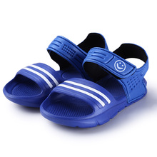 Elsa Shoes Rubber Real New Plain Ankle Strap Unisex 2016 Children Sandals Slip-resistant Wear-resistant Small Boy Casual Child(China (Mainland))