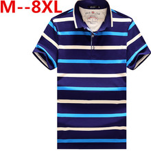 plus size 8XL 6XL 5XL 4XL men polo shirt brands short sleeved cotton striped polo men 2016 casual quick dry polos for man