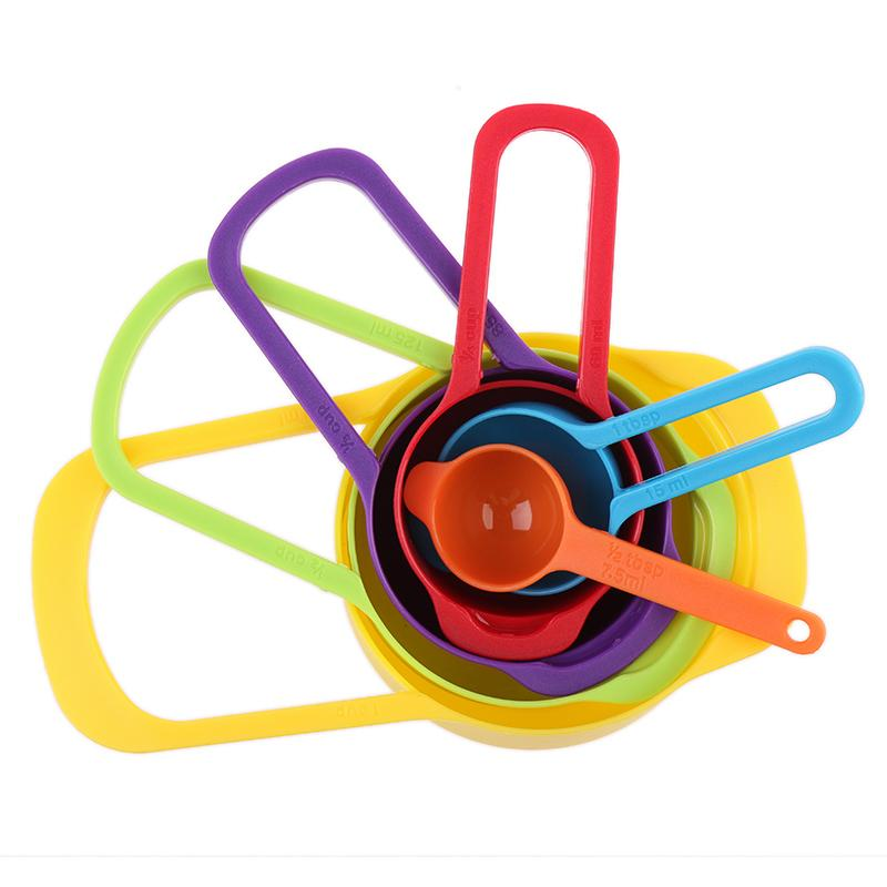 6 pcs/set Professional Colorful Measuring Spoons Set Kitchen Tool Utensils Cream Cooking Baking 2016 Kid Toy Gift Love Show New(China (Mainland))