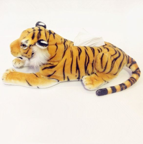 Free Shipping Top Sale 50 cm Cute Replica Tiger Tissue Holder Popular Birthday Gift and Lovely Soft Present High Quality(China (Mainland))