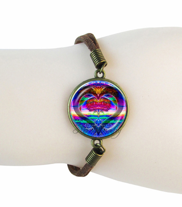tree of bracelet mandala hindu jewelry suede